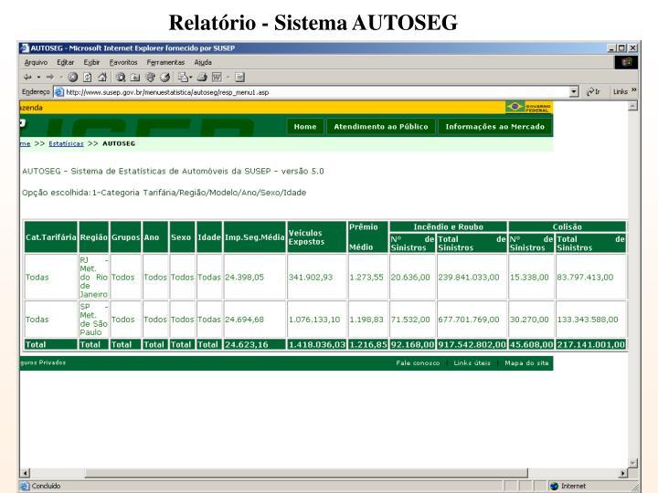 Relatório - Sistema AUTOSEG