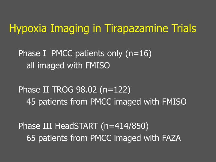 Hypoxia Imaging in Tirapazamine Trials