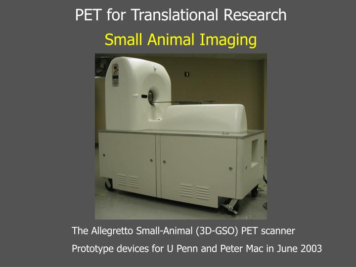 PET for Translational Research