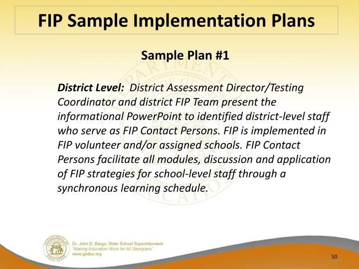 FIP Sample Implementation
