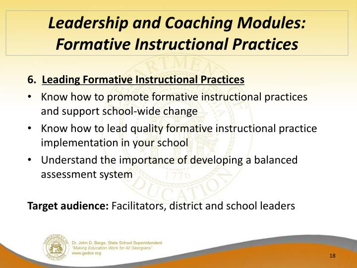 Leadership and Coaching Modules: