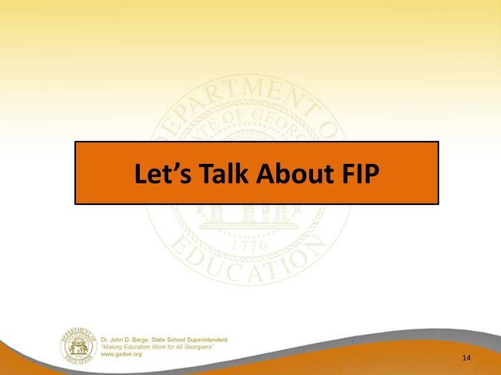 Let's Talk About FIP