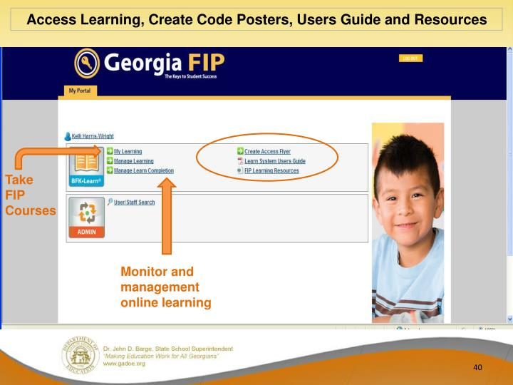 Access Learning, Create Code Posters, Users Guide and Resources