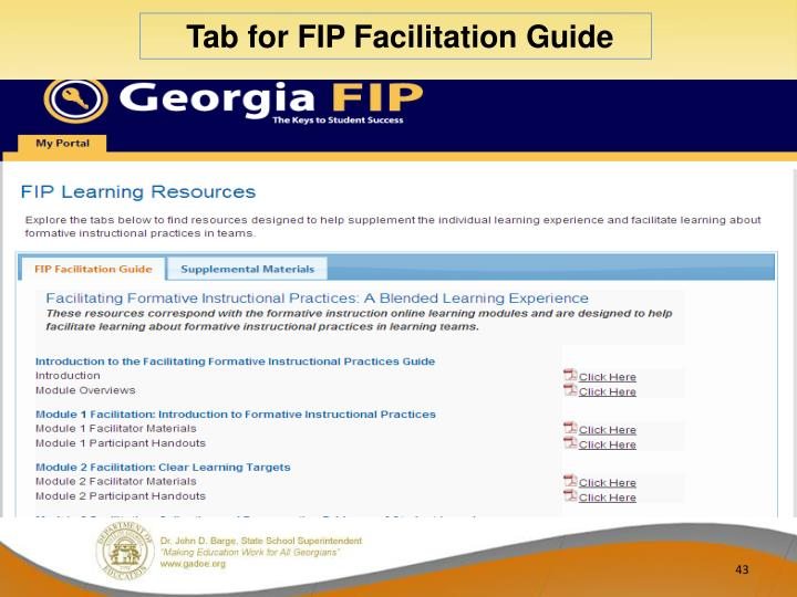 Tab for FIP Facilitation Guide