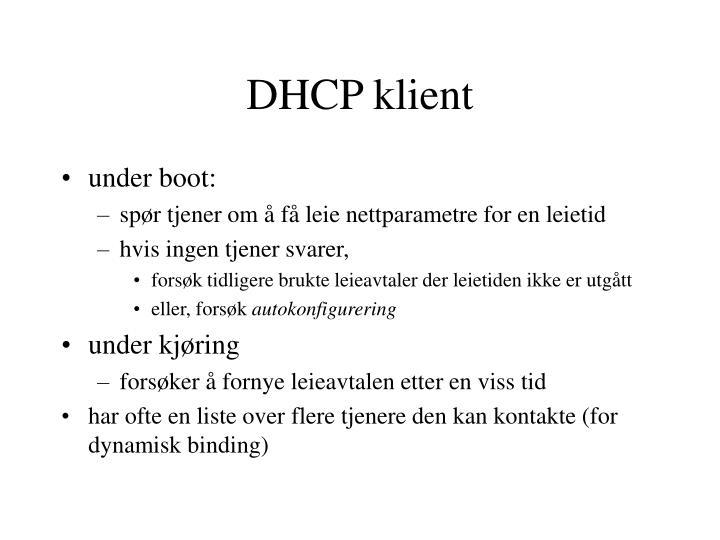 DHCP klient
