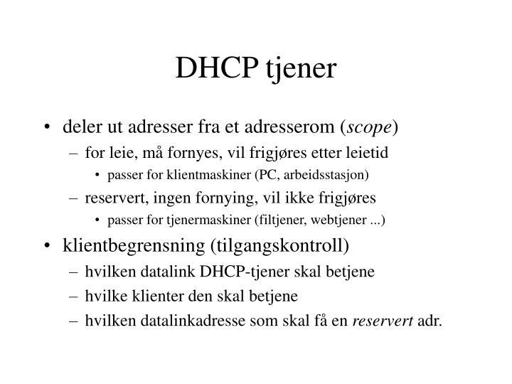 DHCP tjener
