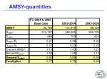 amsy quantities