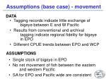 assumptions base case movement