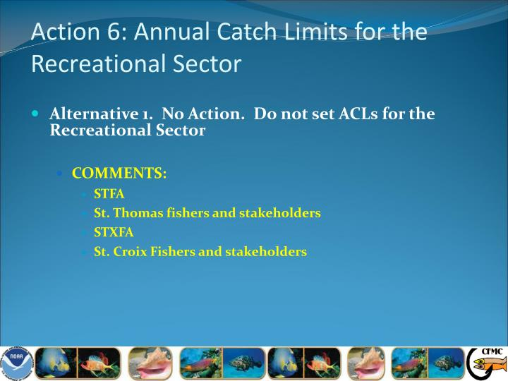 Action 6: Annual Catch Limits for the Recreational Sector