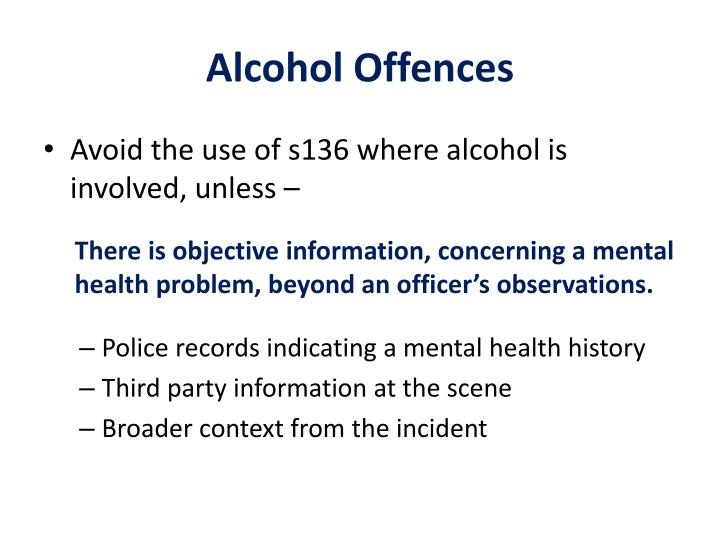 Alcohol Offences