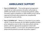 ambulance support