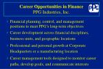 career opportunities in finance ppg industries inc