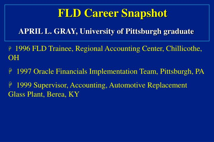 FLD Career Snapshot