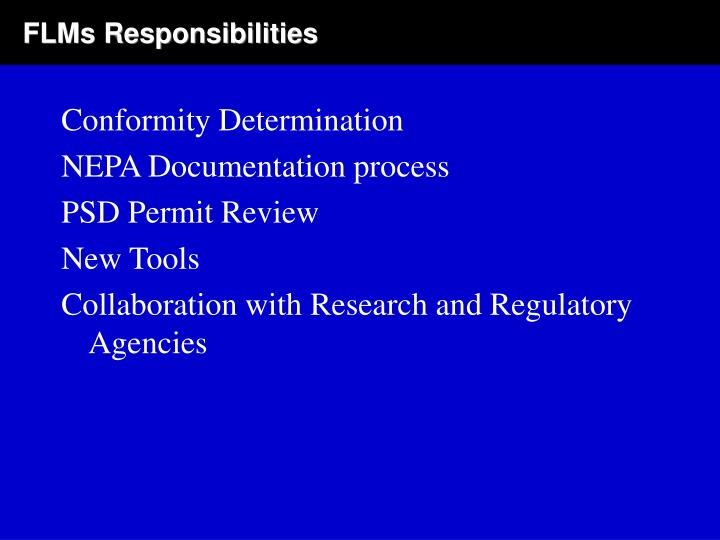 FLMs Responsibilities