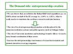 the demand side entrepreneurship creation