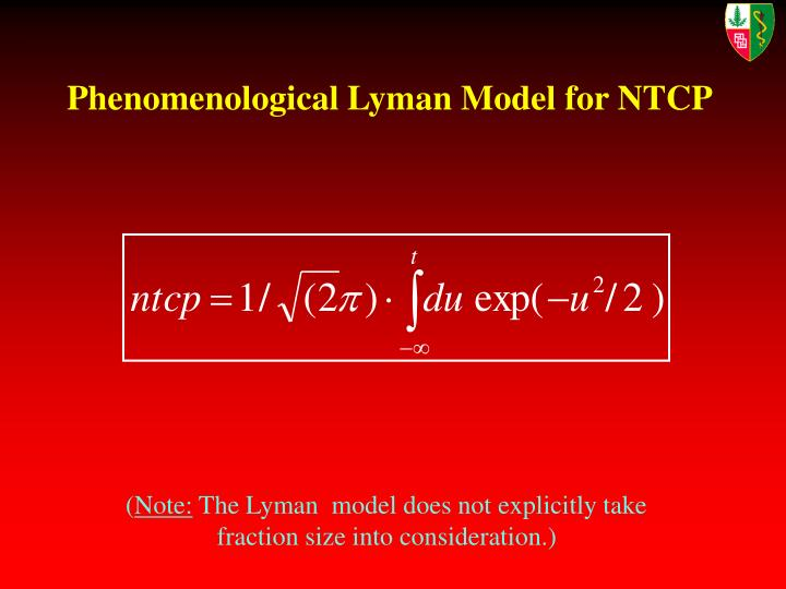 Phenomenological Lyman Model for NTCP