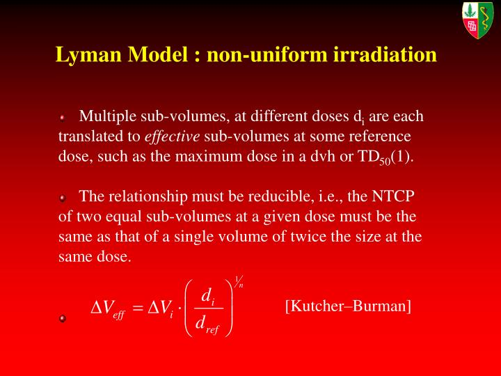 Lyman Model : non-uniform irradiation