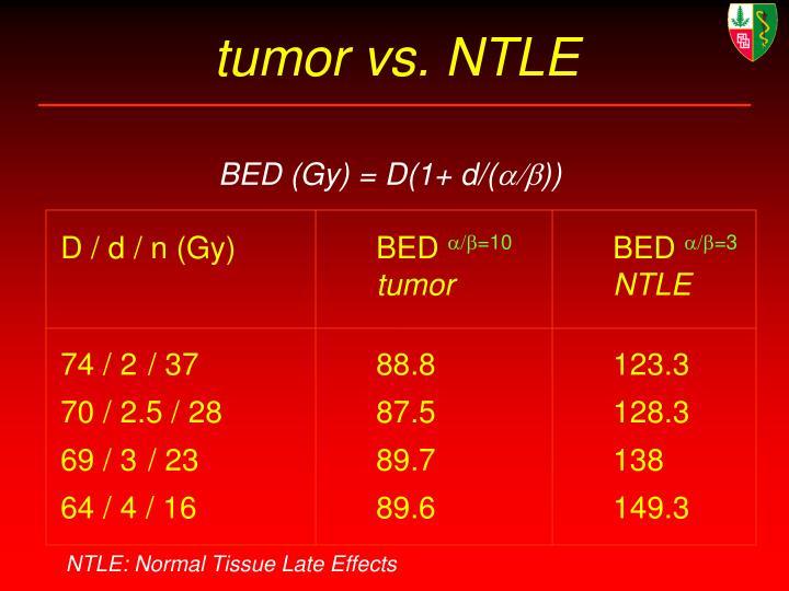 tumor vs. NTLE