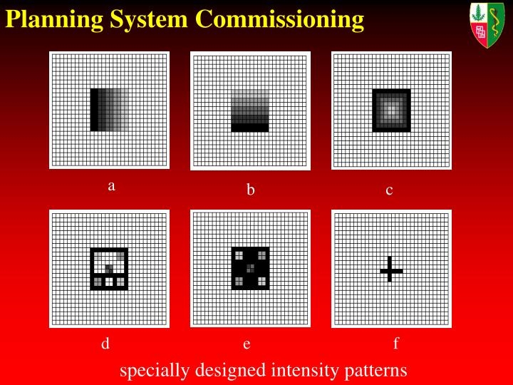 Planning System Commissioning