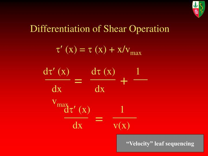Differentiation of Shear Operation