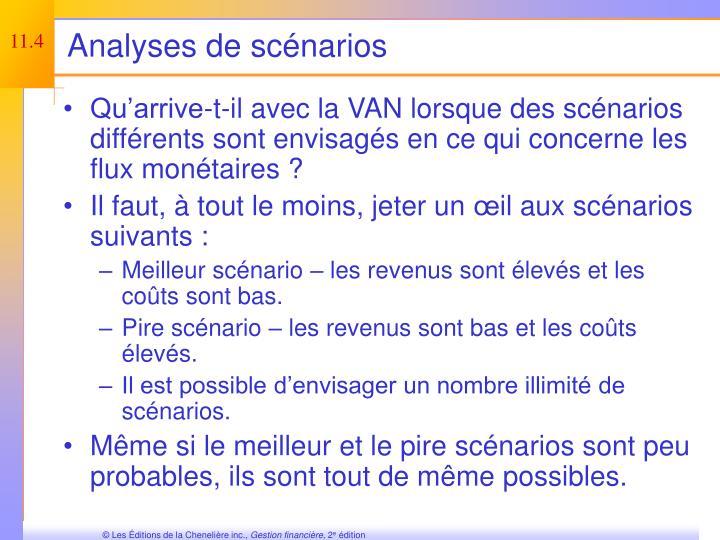 Analyses de scénarios