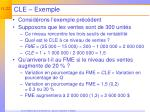 cle exemple