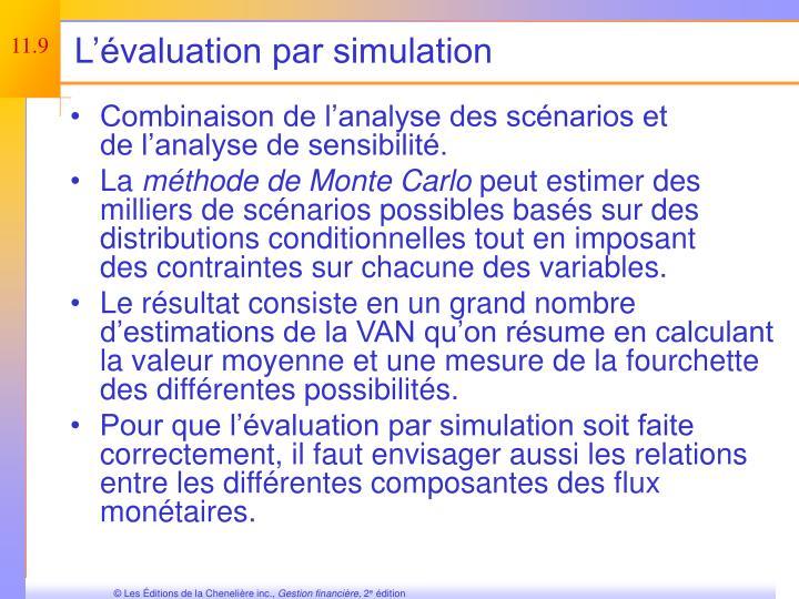 L'évaluation par simulation