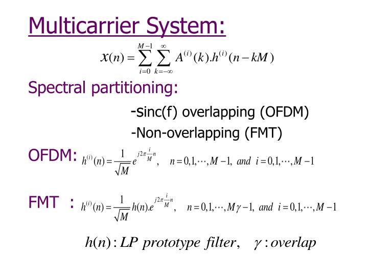 Multicarrier System: