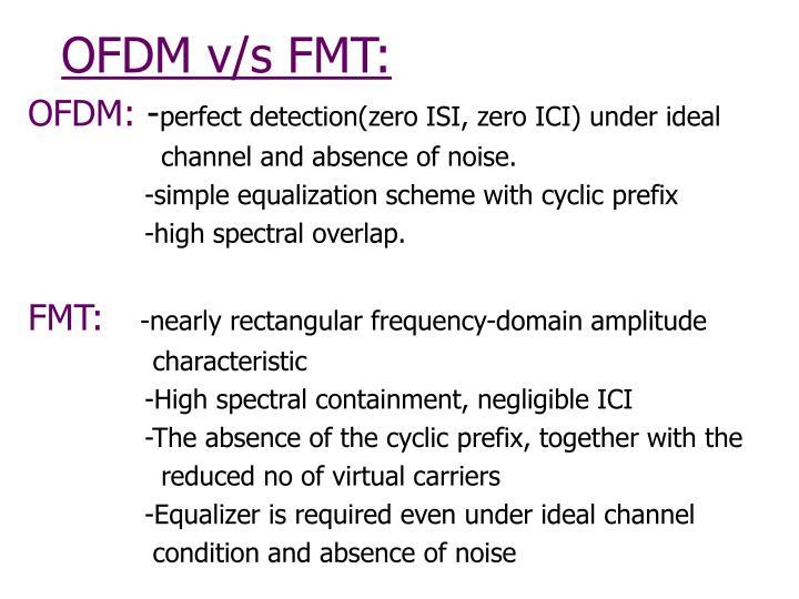 OFDM v/s FMT: