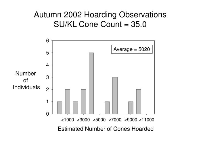 Autumn 2002 Hoarding Observations