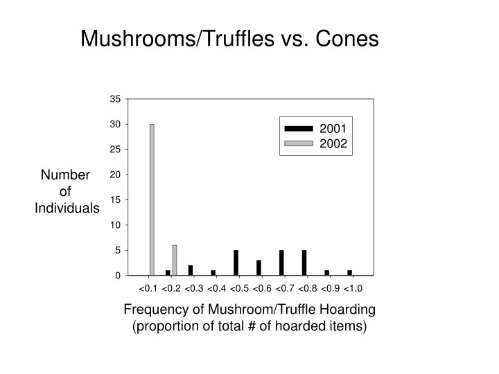 Mushrooms/Truffles vs. Cones