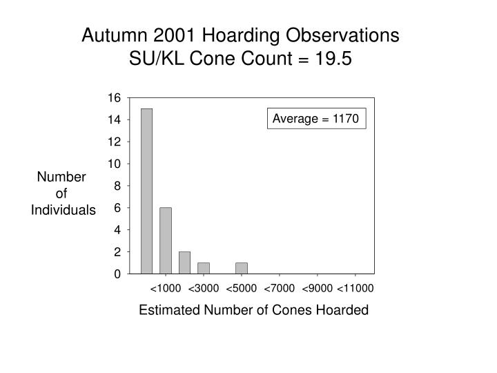 Autumn 2001 Hoarding Observations