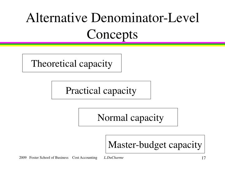 Alternative Denominator-Level