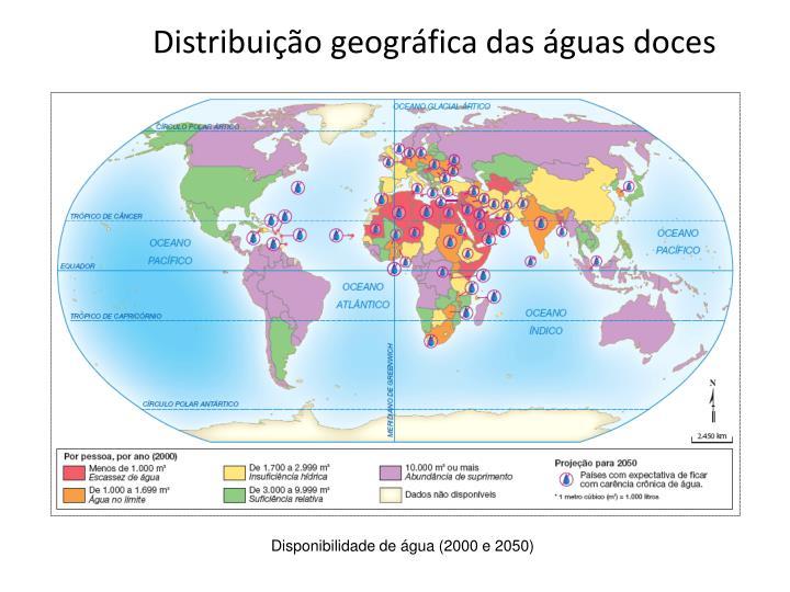 Distribuição geográfica das águas doces