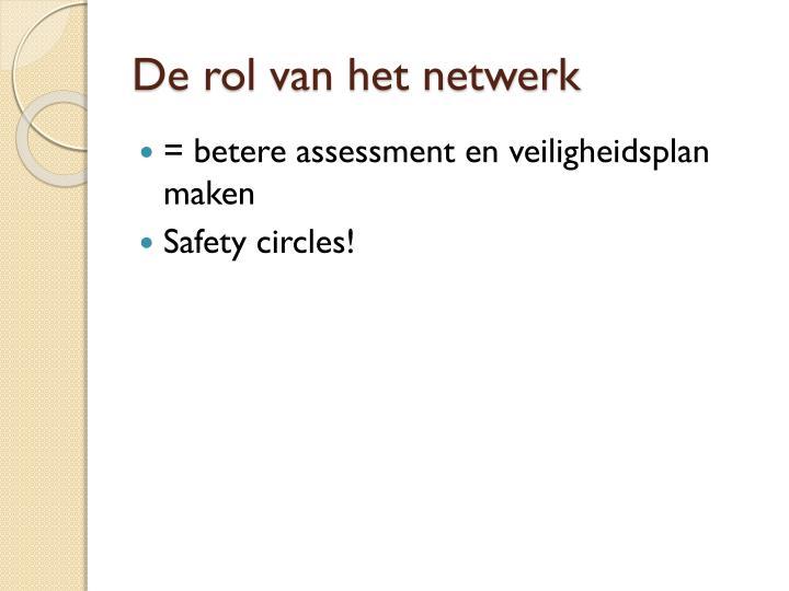 De rol van het netwerk