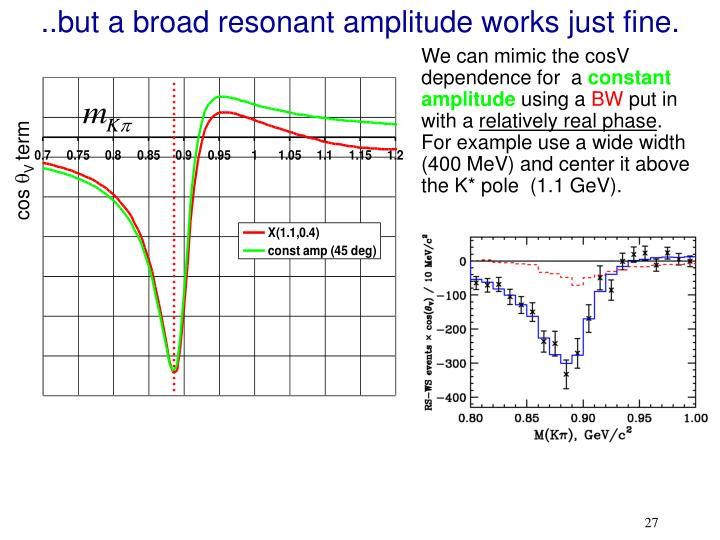 ..but a broad resonant amplitude works just fine.