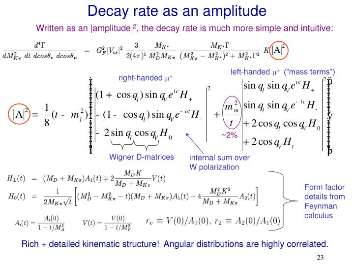 Decay rate as an amplitude