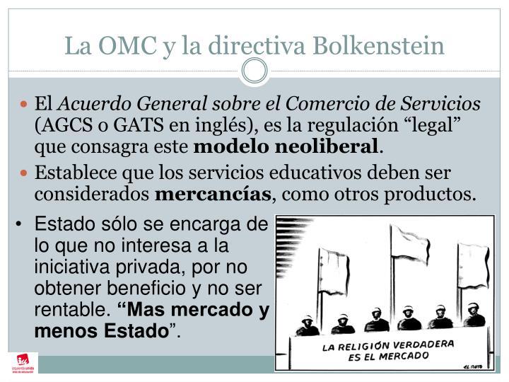 La OMC y la directiva Bolkenstein