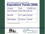 expenditure trends 2008