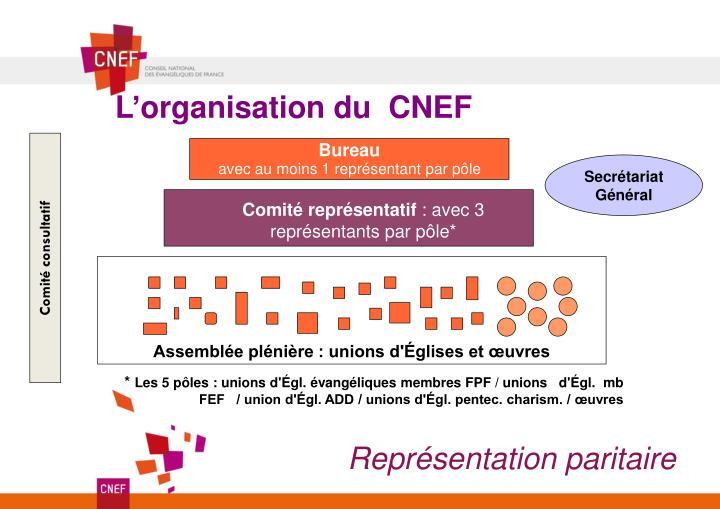 L'organisation du  CNEF