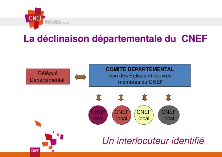 La déclinaison départementale du  CNEF