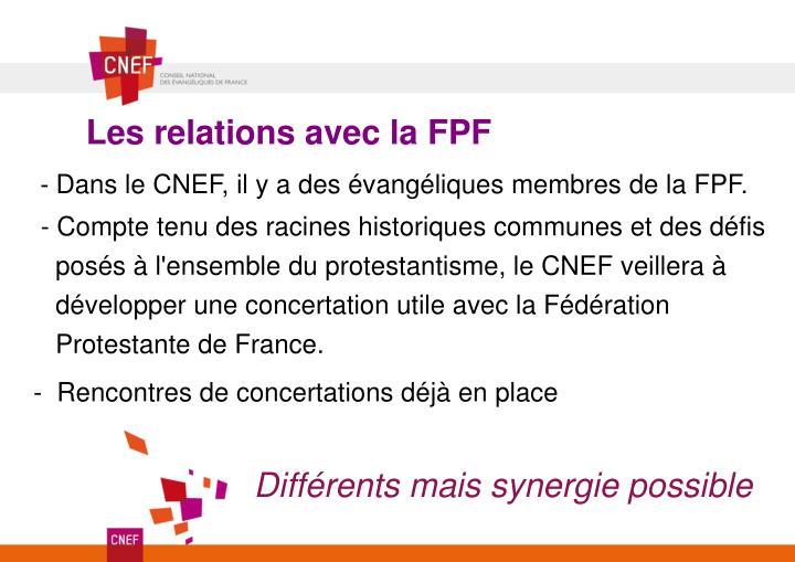 Les relations avec la FPF