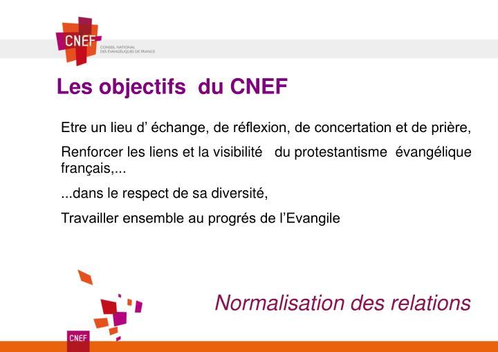 Les objectifs du CNEF
