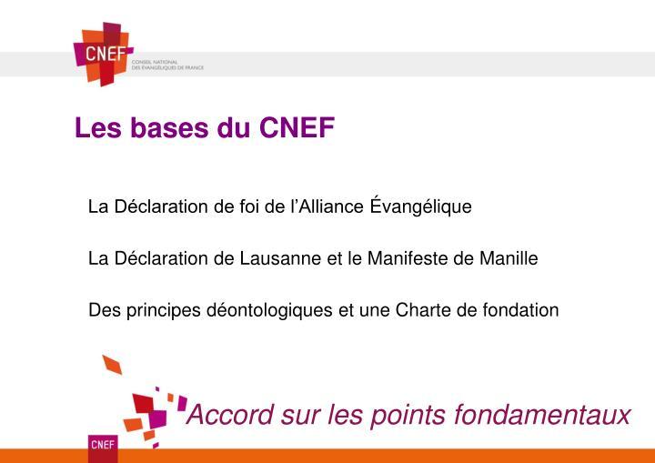 Les bases du CNEF