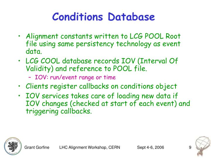Conditions Database