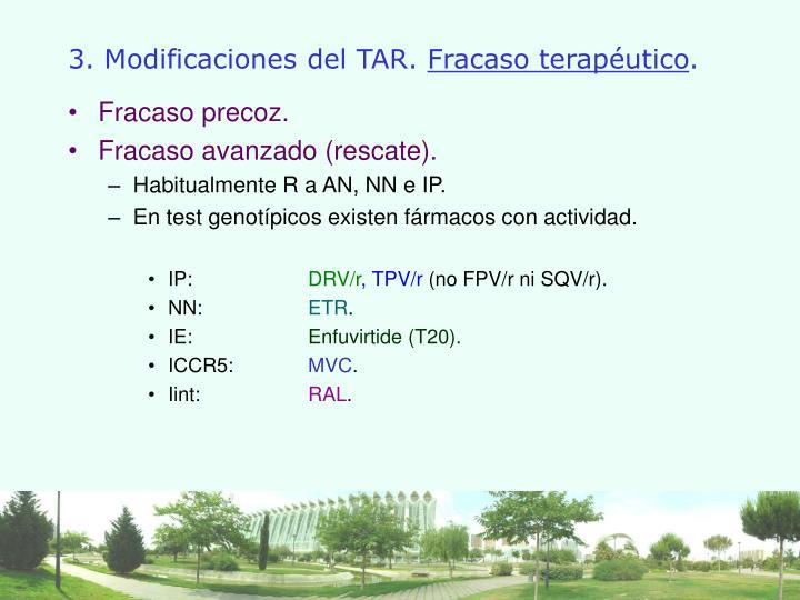 3. Modificaciones del TAR.