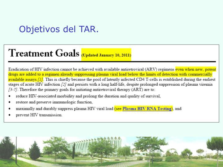 Objetivos del TAR.
