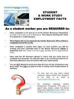 student work study employment facts