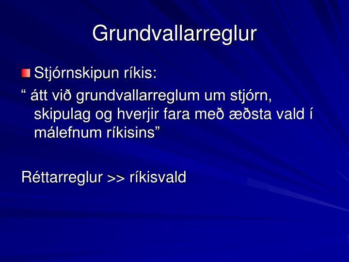 Grundvallarreglur