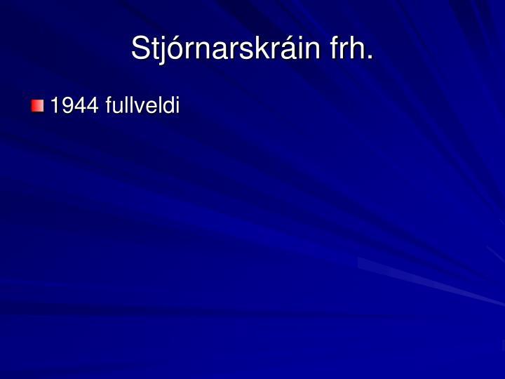 Stjórnarskráin frh.